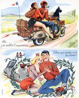 Illustrateur Carrière - Lot De 5 Cartes - Vespa - Scooter - Carrière, Louis