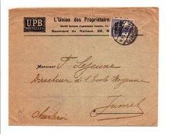 BELGIQUE LETTRE A EN TETE DE BRUXELLES OUVERTE PAR LA CENSURE 1917 - Weltkrieg 1914-18