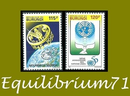 1057/1058** - F.A.O. & 50e Anniversaire Nations Unies / F.A.O. Wereldvoedselvoorziening En 50e Verj Van VN - BURUNDI - Burundi