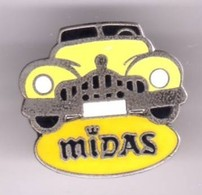 V395 Pin's USA Car Legend Cadillac ? Royce Rolls ? Bentley ?  Midas Arthus Bertrand Signé AB Jaune Foncé Achat Immédiat - Autres
