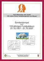 Allemagne / Germany (2007) Mauer: Centenaire Découverte Homo Heidelbergensis. Homme Préhistorique Mâchoire Jaw Early Man - Préhistoire