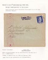 DDW793 - TRAVAILLEURS CIVILS BELGES En Allemagne - LettreTP Hitler 1943 - RARE Lager Elsa Uber BITTERFELD - Guerre 40-45