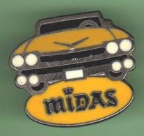 V396 Pin's USA Car Legend Cadillac Royce Rolls Bentley Ford ? Midas Arthus Bertrand Signé AB Jaune Achat Immédiat - Autres