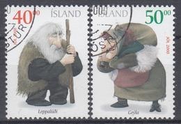 +Iceland 2000. Christmas. Michel 967-68A. AFA 952-53. Cancelled - Oblitérés
