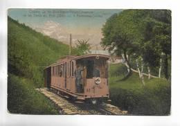 SUISSE - Chemin De Fer Bex-Gryon-Villars-Chesières Et Les Dents Du Midi( 3260 M. ) à Fontannaz-Seulaz - VD Vaud