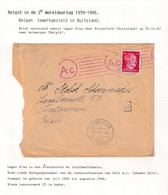 DDW794 - TRAVAILLEURS CIVILS BELGES En Allemagne - LettreTP Hitler 1943 - RARE Lager Elsa Uber BITTERFELD - Guerre 40-45