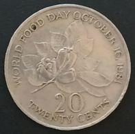 JAMAIQUE - JAMAICA - 20 CENTS 1981 - FAO - KM 120 - WORLD FOOD DAY OCTOBER 16, 1981 - Jamaique
