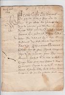MANUSCRIT-17EME-ACTE VENTE-FAIT A BLESLE-43-VOIR SCAN ET DESCRIPTIF - Manuscripten
