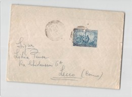 13220 01  BERGAMO X LECCO - V CENTENARIO COLOMBIANO L. 20 - FEDERAZIONE CONTRO TUBERCOLOSI 2 X L. 10 - 1946-.. République