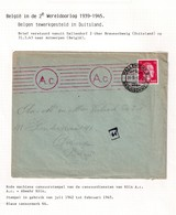 DDW796 - TRAVAILLEURS CIVILS BELGES En Allemagne - LettreTP Hitler 1943 - Lager 8 HALLENDORF - Guerre 40-45