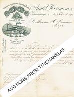Carta 1896 ZUMARRAGA - AMIEL HERMANOS - Fabrica De Aguardientes, Licores Y Arabes - Spain