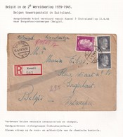 DDW797 - TRAVAILLEURS CIVILS BELGES En Allemagne - Lettre TP Hitler KASSEL 1944 - Lotti Garten - Guerre 40-45