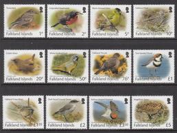 2017 Falkland Islands  Birds Definitives Complete Set Of 12 MNH  @ FACE VALUE - Falkland
