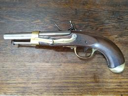 Pistolet De Cavalerie Ou D'arçon à Silex An 9 / An 13 Année 1815 - Militaria