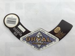 B4 Ancienne Étiquette BIÈRE BELGE ORVAL TRAPPISTE ALE BRASSERIE BROUWERIJ ORVAL - Etiquetas