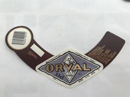 B4 Ancienne Étiquette BIÈRE BELGE ORVAL  BRASSERIE BROUWERIJ ORVAL - Etiquetas