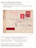 DDW798 - TRAVAILLEURS CIVILS BELGES En Allemagne - Lettre XP TP Hitler MANNHEIM 1943 - Boot Franz Haniel - Guerre 40-45
