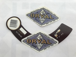 B4 Ancienne Étiquette BIÈRE BELGE ORVAL  VIII BRASSERIE BROUWERIJ ORVAL - Etiquetas