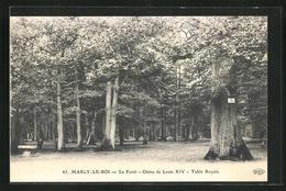 AK Marly-le-Roi, La Foret, Chene De Louis XIV, Table Royale, Baum - Fleurs, Plantes & Arbres