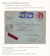 DDW799 - TRAVAILLEURS CIVILS BELGES En Allemagne - Lettre XP TP Hitler HIRSCHBERG 1944 - Hotel 3 Bergen - Guerre 40-45