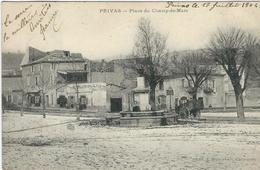 ARDECHE : Privas, Place Du Champ De Mars - Privas