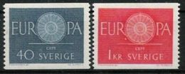 EUROPA CEPT SUEDE 1960 N° Y&t 454/455 Neuf(s) ** MNH Luxe - 1960