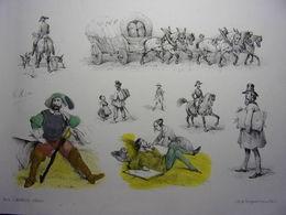 6/ Lithographie La Foire Aux Idées (1851-1854) Victor Adam - Lithographien