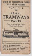 Plan N° 2 Reseau Tramways  Paris - Europe