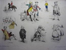 9/ Lithographie La Foire Aux Idées (1851-1854) Victor Adam - Lithographien