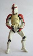 FIGURINE STAR WARS Episode II 2 AOTC Red Clone Trooper 2001 Hasbro China - Power Of The Force