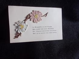 Carte Postale.Fleurs En Tissu.Marguerite.Avant 1903. Voir 2 Scans. - Timbres