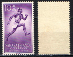 SAHARA SPAGNOLO - 1954 - Runner - MNH - Sahara Spagnolo