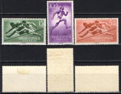 SAHARA SPAGNOLO - 1954 - Hurdlers, Runner - MH - Sahara Spagnolo