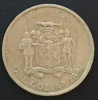 JAMAIQUE - JAMAICA - 1 ONE DOLLAR 1991 - Bustamante - KM 145 - Jamaique