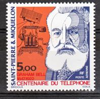 Saint Pierre Et Miquelon PA  63 Graham Bell Gomme Tropicale Neuf ** MNH Sin Charmela Cote 13.2 - Luchtpost