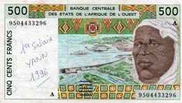 WEST AFRICAN STATES 500 FRANCS 1995 P-110Ae XF(SCRITTA)-A For Cote D'Ivoire (Ivory Coast) - West African States