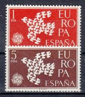 EUROPA CEPT ESPAGNE 1961 N° Y&t 1044/1045 Neuf(s) ** MNH Luxe - 1961