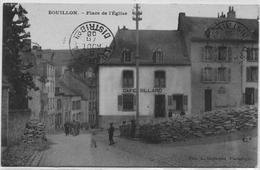 BOUILLON : Place De L'église - Petite Animation - 1908 - Rare - Bouillon
