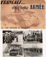 Français ... Voici Votre Armée - De Sienne A Belfort - Série 13 Cartes -- Chars, Canons... (118607) - Guerre 1939-45