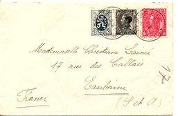 BELGIQUE AFFRANCHISSEMENT COMPOSE DE HUY POUR LA FRANCE 1936 - Belgique