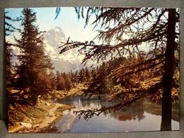 (FG.N28) CERVINIA BREUIL - IL LAGO BLEU (VAL D'AOSTA) Viaggiata 1975 - Aosta