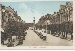 C.P.A. : REIMS (51) - Place D'Erlon - Carte Animée Avec Voitures Automobiles. - Reims