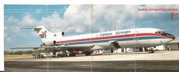 DEPLIANT BOEING 727 CAYMAN AIRWAYS FLIGHT SCHEDULE HORAIRE - Autres
