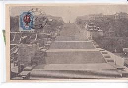 Cpa Old Pc Russie Russia  Odessa Potemkine Escalier Richelieu 1919 - Russia