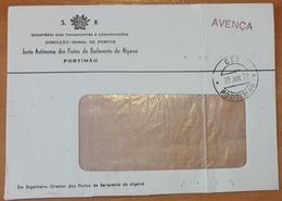 Portugal - COVER - Franchise / AVENÇA - Cancel: Portimão (1977) - Direcção-Geral De Portos (Barlavento Do Algarve) - Franchise