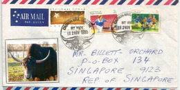 Darwin Buffaloes , Letter From Darwin (Australia), Sent To Singapore - Altri
