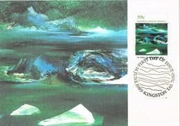 36259. Tarjeta Maxima KINGSTON (Australia) 1989. Australia ANTARCTIC Territory. Iceberg Alley - Maximum Cards