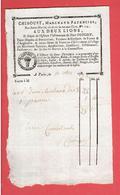 FACTURE 10 NOVEMBRE 1792 DE CHIBOUST FAYENCIER 113 RUE SAINT MARTIN FACE LA RUE AUX OURS A PARIS PORCELAINE VERRERIE - ... - 1799