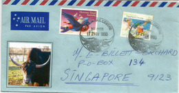 Darwin Buffaloes , Letter From Darwin (Australia), Sent To Singapore - Storia Postale