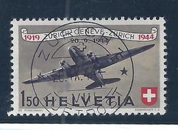 SUISSE Poste Aèrienne: Le ZNr. F40, Obl. CAD ''Voll ET'' De Zürich Du 20.IX.44   B à TB - Used Stamps